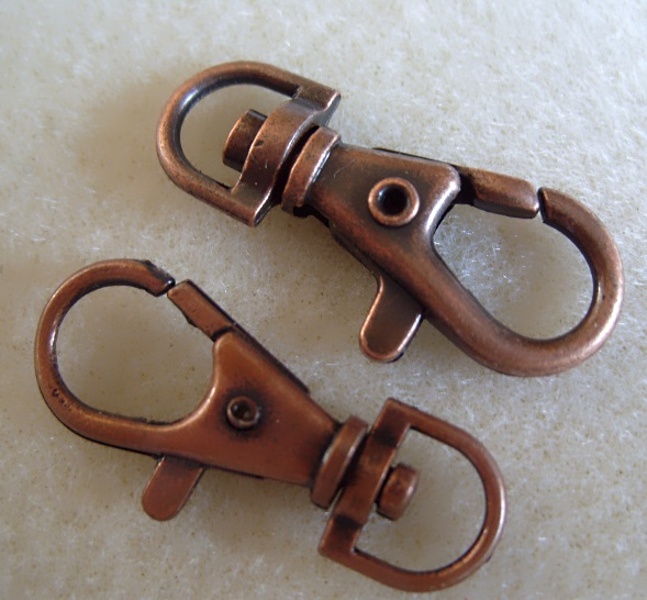 Antique copper swivel clasp 38mm