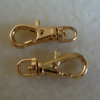 22mm swivel clasp, gold plated