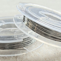 0.3mm plated copper craft wire, shiny silver