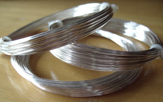 0.8mm silver plated copper craft wire