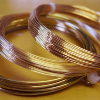 0.4mm plated copper craft wire, gilt