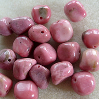 Rhodonite gemstone bead