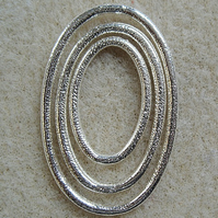 Set of 3, oval silver plated links