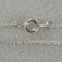 "SALE 24"" silver plated assembled curb chain necklace"
