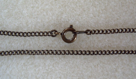 "18"" antique brass plated assembled curb chain necklace"