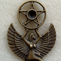 Egyptian goddess metal pendant