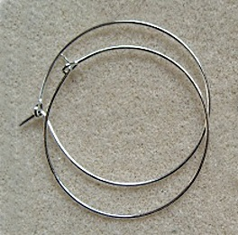 10 rings for making wine glass charms, 30mm