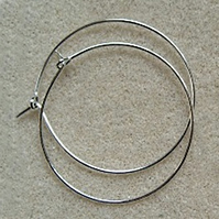 10 rings for making wine glass charms, 25mm