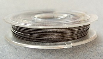 10 metre reel, 0.38 tigertail beading wire