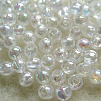 4mm acrylic bubble beads, ab crystal clear