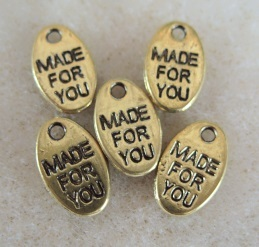 10, made for you charms, oval 8mm x 13mm
