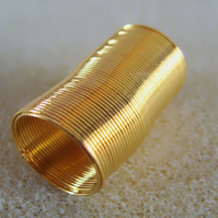 Ring memory wire, 20mm diameter x 50 coils, gold plated