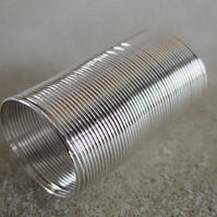 Ring memory wire, 20mm diameter x 50 coils, silver plated