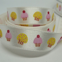 15mm cup cake ribbon, 1 metre.