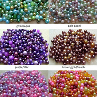 Value pack glass beads, pearl bead mix, 200g