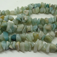 SALE strand of large amazonite tumblechips