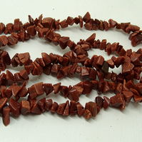 SALE strand of goldstone tumblechip beads