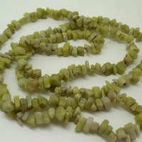 SALE lime green jade tumble stone chips