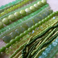 SALE selection of green glass beads