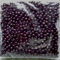 20g size 8 seed beads, opaque dark brown