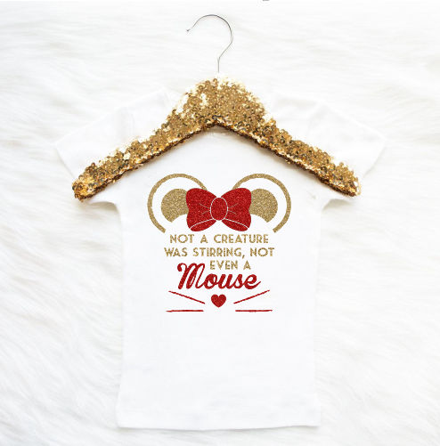 Baby Girl Tshirt Christmas Outfit Baby Girl clothes Not Even A Mouse