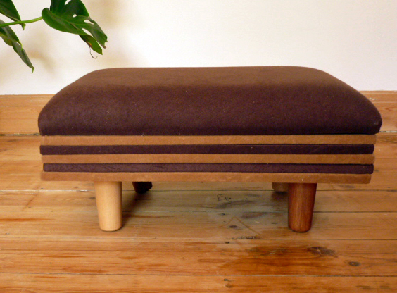 Footstool - Retro  Vintage Style 1950s  1960s Inspired