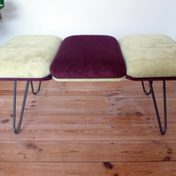 Footstool - Retro style with hairpin legs