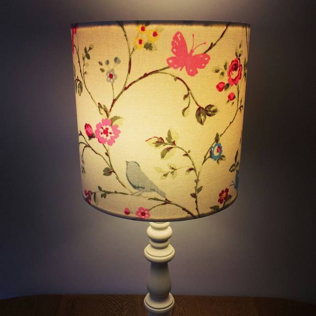 Beautiful Lampshade in Clarke & Clarke Floral 'Bird Trail' Fabric