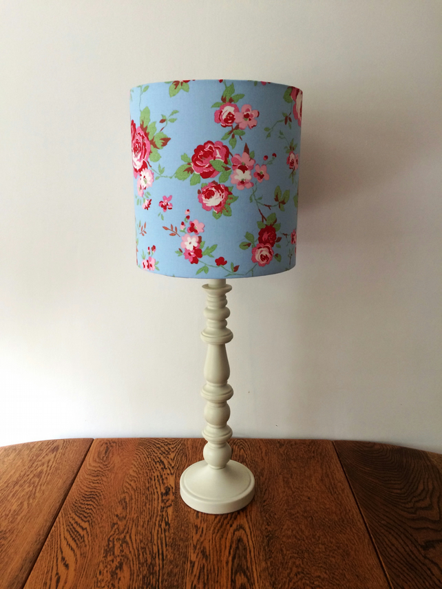 Beautiful Lampshade in Cath Kidson Floral 'Rosali' Fabric