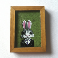 Mr. Barnabas Bunny - Mini Painting Fridge Magnet