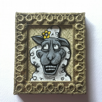 Buttercup - Mini Painting Fridge Magnet