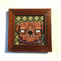Pugsly - Mini Painting Fridge Magnet