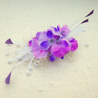 Sweet Pea Flower trim makes a FASCINATOR or BAG CORSAGE or LAPEL CORSAGE