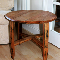 Oak Scotch Whisky Barrel side table