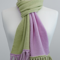 Pink and Green Two Colour Scarf
