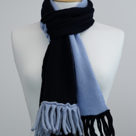 Navy and Blue Two Colour Scarf