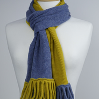 Denim and Mustard Two Colour Scarf