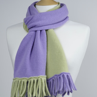 Lilac and Green Two Colour Scarf