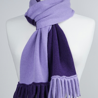 Lilac and Purple Two Colour Scarf
