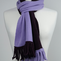 Lilac and Blackgrape Two Colour Scarf