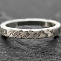 Hammered Edge - a Chunky Stacker