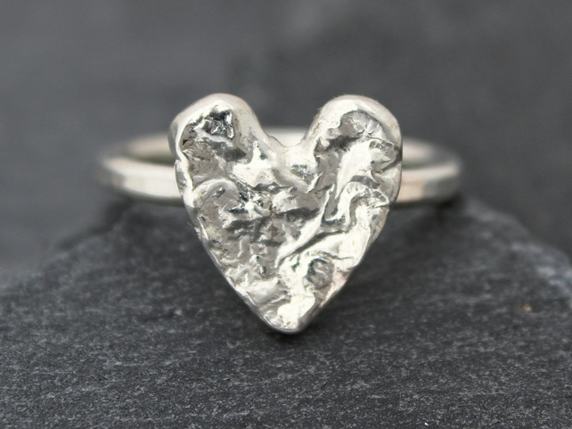'Made With Love', an Organic Heart Ring