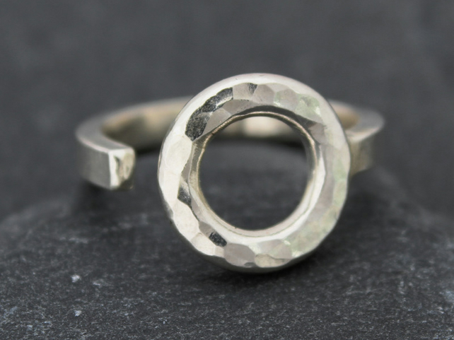 The Hammered Eye, An Open Ring