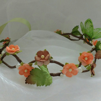 Autumn hair garland - flower hair wreath - fairy circlet