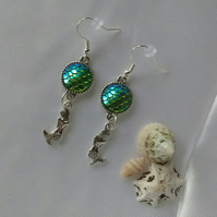 Mermaid dangle earrings
