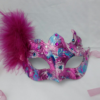 Masquerade mask - pink peacock mask - The Masked Ball