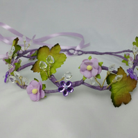 Lilac hair garland - flower crowns - bridal - wedding - flower girl