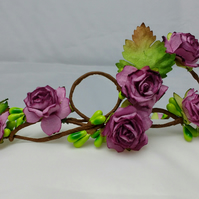Rose hair garland, flower crown, rose hair wreath, mulberry roses