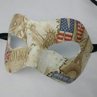 Masquerade party masks, London, New York, Paris, Carnival masks