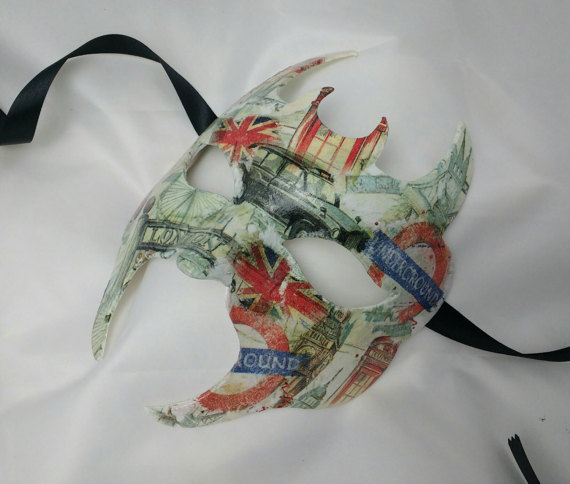 Masquerade mask, masks for men, city of London, fun party mask, fancy dress